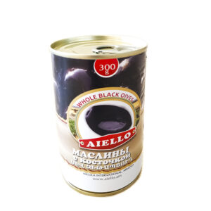 Маслины черные с косточкой 300г