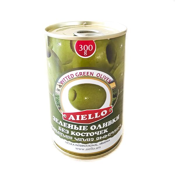 Зеленые оливки без косточек Aiello