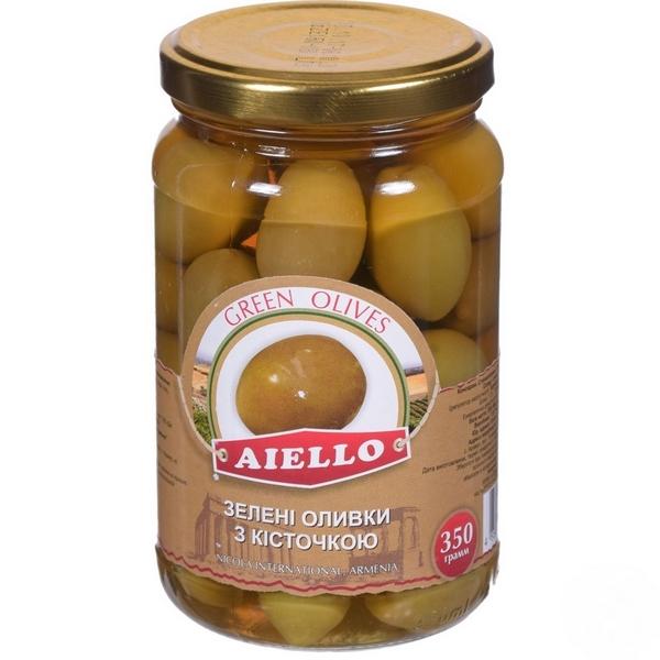 Зеленые оливки с косточкой Aiello