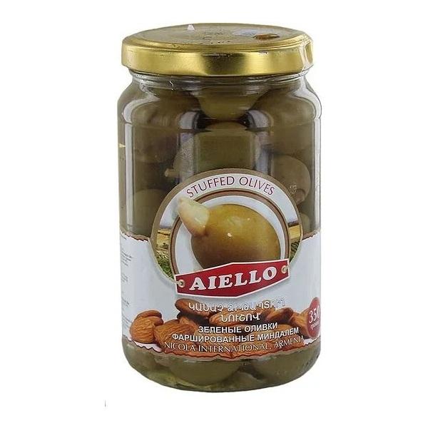 зеленые оливки с миндалем