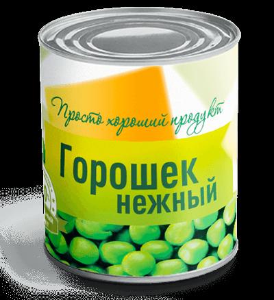 зеленый горошек нежный